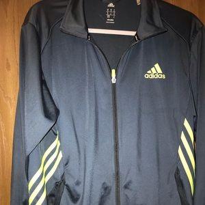 Adidas zip up track jacket M